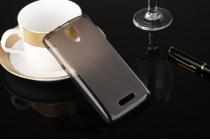 """Фирменная ультра-тонкая полимерная из мягкого качественного силикона задняя панель-чехол-накладка для  Lenovo A1000/ A2800 /A2800D 4.0"""" черная"""