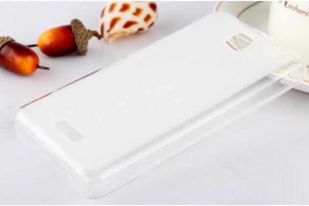 Фирменная ультра-тонкая полимерная из мягкого качественного силикона задняя панель-чехол-накладка для Lenovo A1900  белая