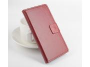 Фирменный чехол-книжка из качественной импортной кожи с мульти-подставкой застёжкой и визитницей для Леново А1..