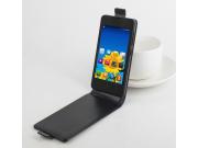 Фирменный оригинальный вертикальный откидной чехол-флип для Lenovo A1900 черный из натуральной кожи
