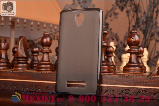 Фирменная ультра-тонкая полимерная из мягкого качественного силикона задняя панель-чехол-накладка для Lenovo A2010 черная