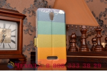 """Фирменный уникальный необычный чехол-книжка для Lenovo A2010 4.5"""" """"тематика все цвета радуги"""""""