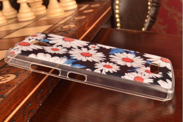 """Фирменная необычная силиконовая задняя панель-чехол-накладка для Lenovo A2010 """"тематика Ромашки"""""""