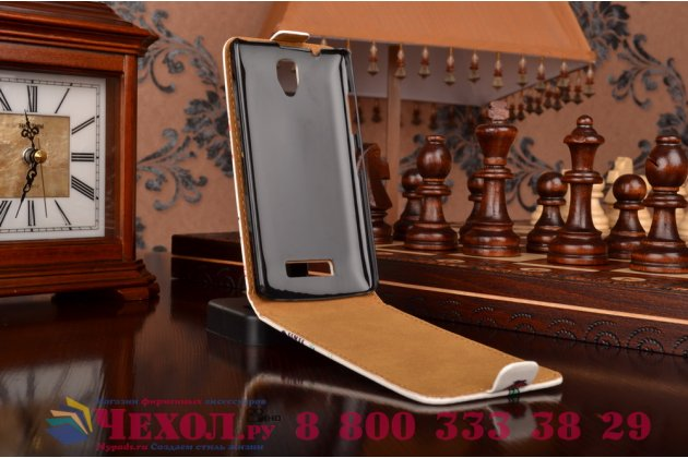 """Фирменный вертикальный откидной чехол-флип для Lenovo A2010  """"тематика Бабочка"""""""