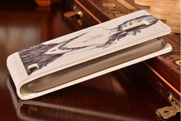 """Фирменный вертикальный откидной чехол-флип для Lenovo A328 """"тематика Девушка"""""""
