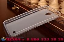 """Фирменная ультра-тонкая полимерная из мягкого качественного силикона задняя панель-чехол-накладка для  Lenovo A3600 /A3600D / A3800 / A3800D 4.5"""" белая"""