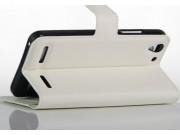 Фирменный чехол-книжка из качественной импортной кожи с подставкой застёжкой и визитницей для Lenovo A3690 / A..