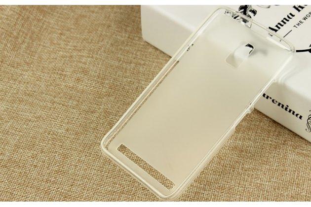"""Фирменная ультра-тонкая силиконовая задняя панель-чехол-накладка для Lenovo A3690 / A3860 / A3580 / A3890 5.0"""" белая"""