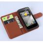 Фирменный чехол-книжка из качественной импортной кожи с мульти-подставкой застёжкой и визитницей для Lenovo A3..
