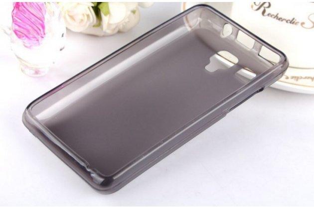 Фирменная ультра-тонкая полимерная из мягкого качественного силикона задняя панель-чехол-накладка для Lenovo A396 / A238T черная