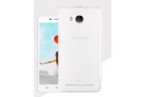 """Фирменная ультра-тонкая силиконовая задняя панель-чехол-накладка для Lenovo A5600 / A5860 / A5890 ( 5.5""""/ Android 5.1 / MediaTek MT6735) белая"""