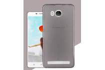 """Фирменная ультра-тонкая силиконовая задняя панель-чехол-накладка для Lenovo A5600 / A5860 / A5890 ( 5.5""""/ Android 5.1 / MediaTek MT6735) черная"""