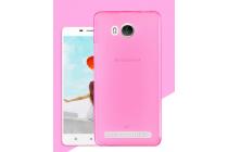 """Фирменная ультра-тонкая силиконовая задняя панель-чехол-накладка для Lenovo A5600 / A5860 / A5890 ( 5.5""""/ Android 5.1 / MediaTek MT6735) розовая"""