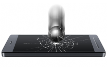 """Фирменное защитное закалённое противоударное стекло премиум-класса из качественного японского материала с олеофобным покрытием для телефона Lenovo A5600 / A5860 / A5890 ( 5.5""""/ Android 5.1 / MediaTek MT6735)"""