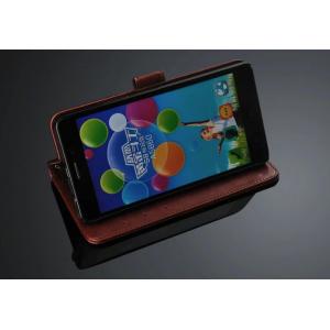 """Фирменный чехол-книжка для Lenovo A5600 / A5860 / A5890 ( 5.5""""/ Android 5.1 / MediaTek MT6735) с визитницей и мультиподставкой коричневый кожаный"""