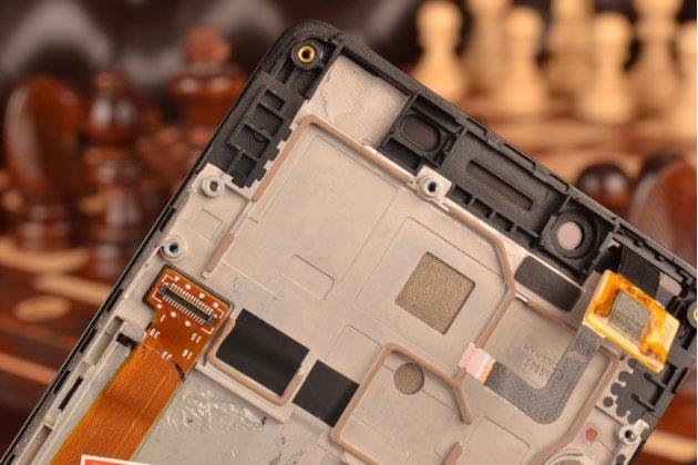 Фирменный LCD-ЖК-сенсорный дисплей-экран-стекло с тачскрином на телефон Lenovo A6000 черный + гарантия