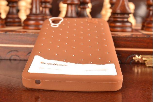 """Фирменная необычная уникальная полимерная мягкая задняя панель-чехол-накладка для Lenovo A6000/ A6010 Plus """"тематика Андроид в тёмном Шоколаде"""""""