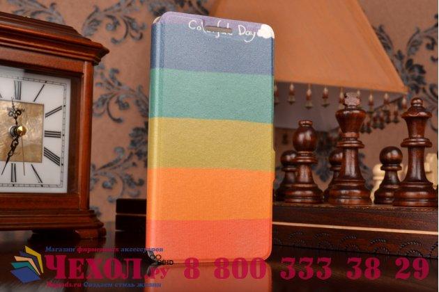 """Фирменный уникальный необычный чехол-книжка для Lenovo A6000/ A6010 Plus 5.0""""  """"тематика все цвета радуги"""""""