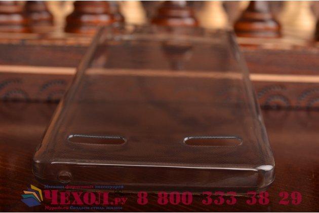 Фирменная ультра-тонкая полимерная из мягкого качественного силикона задняя панель-чехол-накладка для Lenovo K3 Music Lemon черная