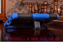"""Противоударный усиленный ударопрочный фирменный чехол-бампер-пенал для Lenovo A6000/ A6010 Plus 5.0"""" синий"""