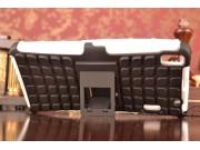 Противоударный усиленный ударопрочный фирменный чехол-бампер-пенал для Lenovo A7000 белый..
