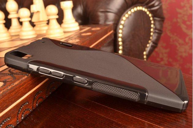 Фирменная ультра-тонкая полимерная из мягкого качественного силикона задняя панель-чехол-накладка для Lenovo K3 Note/A7000 черная