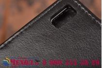 """Фирменный оригинальный вертикальный откидной чехол-флип для Lenovo K3 Note / A7000 5.5"""" LTE черный из натуральной кожи """"Prestige"""" Италия"""