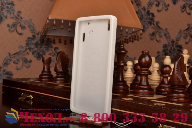 """Фирменная необычная уникальная полимерная мягкая задняя панель-чехол-накладка для Lenovo K3 Note/A7000 """"тематика Андроид в Белом Шоколаде"""""""