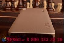 Фирменная задняя панель-крышка-накладка из тончайшего и прочного пластика для Lenovo K3 Note/A7000 золотая