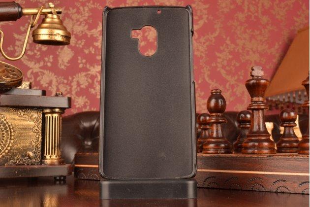 """Фирменная роскошная элитная премиальная задняя панель-крышка для Lenovo A7010 / Vibe X3 Lite/ K4 Note 5.5"""" из качественной кожи буйвола с визитницей черная"""