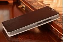 Фирменный чехол-книжка водоотталкивающий с мульти-подставкой на жёсткой металлической основе для Lenovo A788T черный