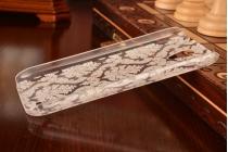 Фирменная роскошная задняя панель-чехол-накладка с расписным узором для Lenovo A859 белая