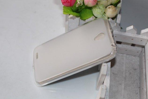Фирменная ультра-тонкая полимерная из мягкого качественного силикона задняя панель-чехол-накладка для Lenovo A859 белая