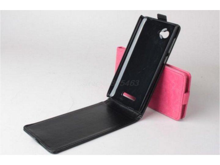 Фирменный оригинальный вертикальный откидной чехол-флип для Lenovo A889 / A880 6.0