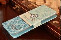 """Фирменный уникальный необычный чехол-книжка для Lenovo A916 """"тематика Корона в винтажном стиле"""""""
