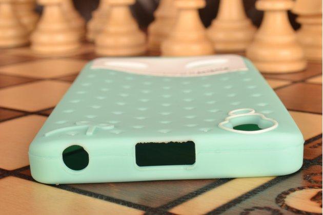 """Фирменная необычная уникальная полимерная мягкая задняя панель-чехол-накладка для Lenovo K3 Music Lemon """"тематика Андроид в мятном шоколаде"""""""
