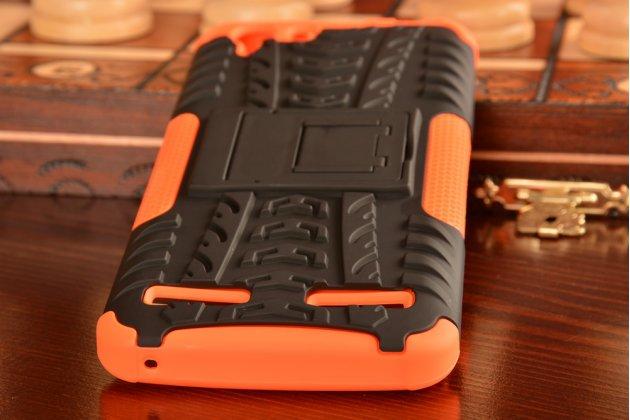 """Противоударный усиленный ударопрочный фирменный чехол-бампер-пенал для  Lenovo Vibe K5/ Vibe K5 Plus (A6020 / A6020a40 / A6020a46) 5.0"""" оранжевый"""