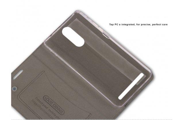 "Фирменный чехол-книжка для  Lenovo K5 Note  (K52t38 / K52e78) 5.5"" с визитницей и мультиподставкой синий в стиле ""Ретро"""