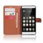 Фирменный чехол-книжка из качественной импортной кожи с подставкой застёжкой и визитницей для Lenovo K5 Note  ..