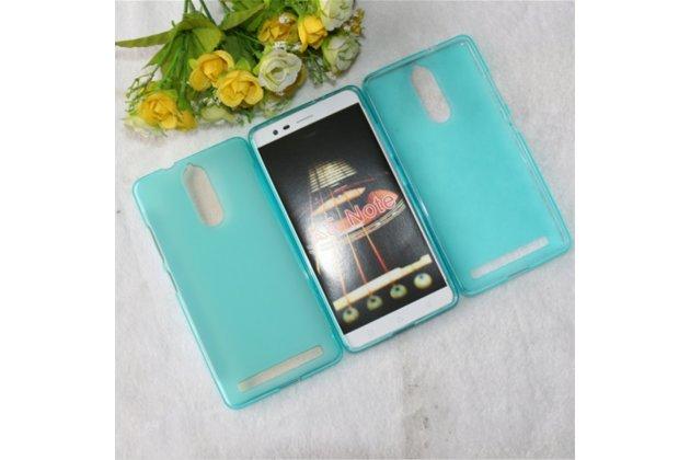 """Фирменная ультра-тонкая силиконовая задняя панель-чехол-накладка для Lenovo K5 Note  (K52t38 / K52e78) 5.5"""" голубая"""