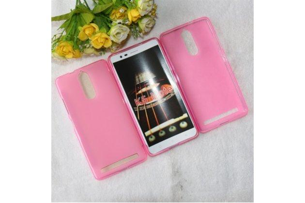 """Фирменная ультра-тонкая силиконовая задняя панель-чехол-накладка для Lenovo K5 Note  (K52t38 / K52e78) 5.5"""" розовая"""
