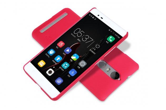 """Фирменная задняя панель-крышка-накладка из тончайшего и прочного пластика для Lenovo K5 Note  (K52t38 / K52e78) 5.5"""" красная"""