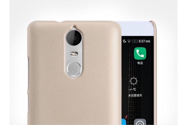 """Фирменная задняя панель-крышка-накладка из тончайшего и прочного пластика для Lenovo K5 Note  (K52t38 / K52e78) 5.5"""" золотая"""