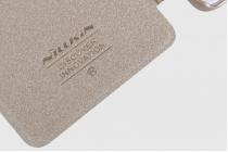 """Фирменный чехол-книжка для Lenovo K5 Note  (K52t38 / K52e78) 5.5"""" с функцией умного окна (фонарик, плеер, аналоговые часы) золотой"""