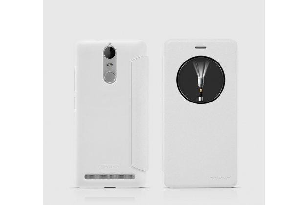 """Фирменный чехол-книжка для Lenovo K5 Note  (K52t38 / K52e78) 5.5"""" с функцией умного окна (фонарик, плеер, аналоговые часы) белый"""