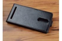 """Фирменный оригинальный вертикальный откидной чехол-флип для Lenovo K5 Note  (K52t38 / K52e78) 5.5"""" черный кожаный"""