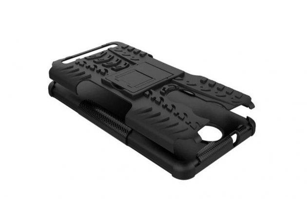 """Противоударный усиленный ударопрочный фирменный чехол-бампер-пенал для Lenovo K5 Note  (K52t38 / K52e78) 5.5"""" черный"""