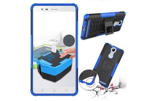 """Противоударный усиленный ударопрочный фирменный чехол-бампер-пенал для Lenovo K5 Note  (K52t38 / K52e78) 5.5"""" синий"""