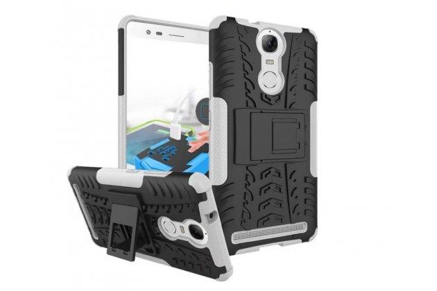"""Противоударный усиленный ударопрочный фирменный чехол-бампер-пенал для Lenovo K5 Note  (K52t38 / K52e78) 5.5"""" белый"""