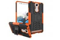 """Противоударный усиленный ударопрочный фирменный чехол-бампер-пенал для Lenovo K5 Note  (K52t38 / K52e78) 5.5"""" оранжевый"""